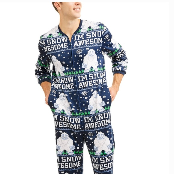be429956 walmart Shirts | Ugly Xmas Onesie Im Snow Awesome | Poshmark